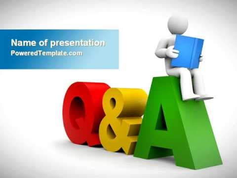 questions & answers powerpoint templatepoweredtemplate, Modern powerpoint