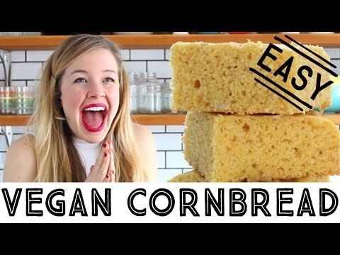 Easy Vegan Cornbread - How to Make Vegan Cornbread