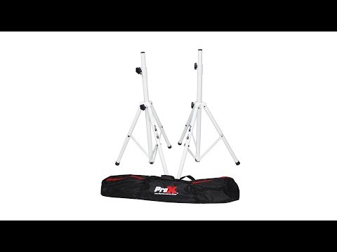 "ProX Cloud Series White All Metal Speaker Tripod Stand 4-7FT/84"" TSS28P"
