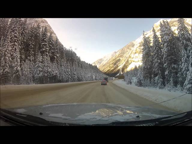 Driving Calgary to Kelowna WINTER DRIVING CONDITIONS