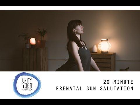 20 minute Prenatal sun salutation