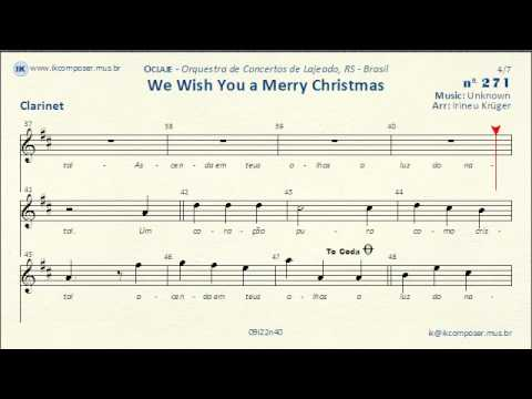 Piano piano tabs we wish you merry christmas : 271 - We Wish You a Merry Christmas - (Clarinet) - YouTube