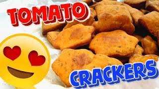 Homemade Tomato Snack. Tasty and Fast Crackers Recipe. HOW TO COOK HEALTHY SNACK - Make It Yummy