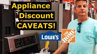 Here's Real Deal: Home Depot/Lowes Appliance Discounts/Rebates