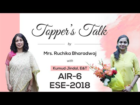 ESE 2018 Topper | Kumud Jindal (EC, AIR 6) | Toppers Talk, MADE EASY