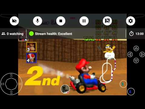 Mario cart 64 playing on android device