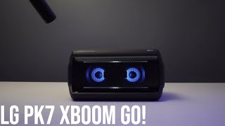 LG PK7 XBOOM Go Party Speaker With Sound Test