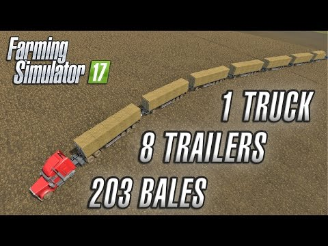 1 TRUCK, 8 TRAILERS AND 203 BALES