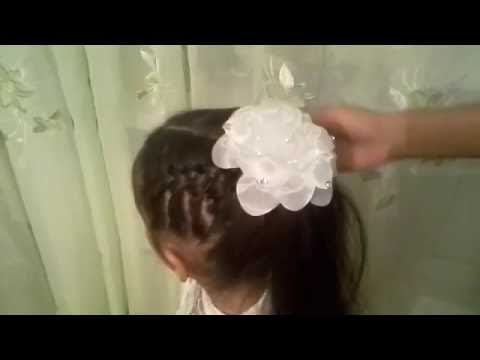Прическа на 1 Сентября Простая Косичка Красивая косичка\Hairstyle September 1st. Easy Braid.