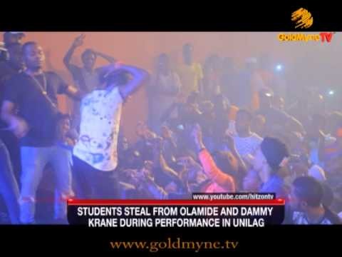 Video: How A Unilag Student Steals From Olamide During Performance