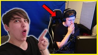 ANNOYING ROOMATE WHILE HE'S GAMING PRANK (so mad)