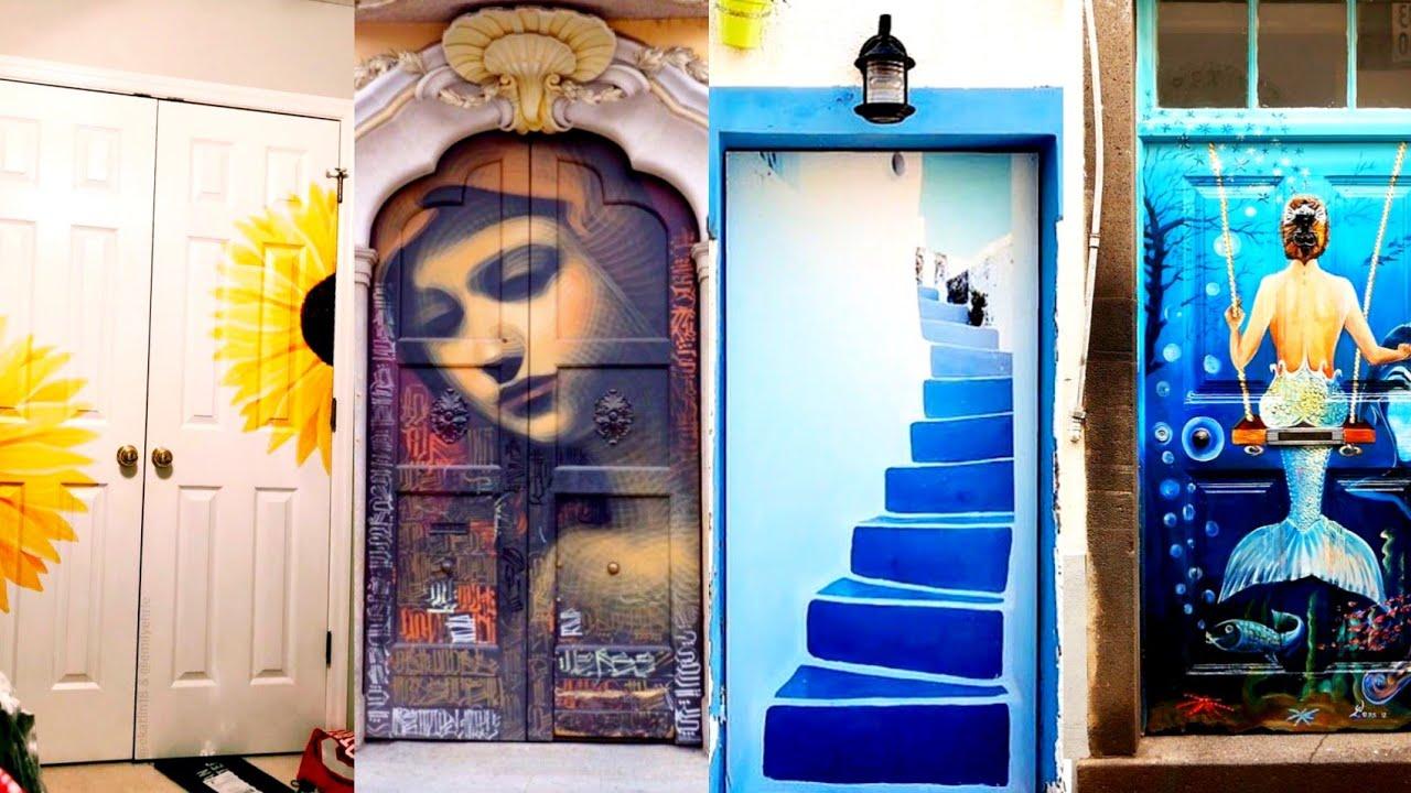 Cool Door Painting Designs Picture Gallery 2020 Door Painting Design Ideas Youtube
