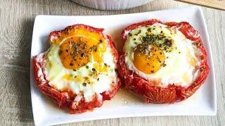 Вот Это Я понимаю ЗАКУСКА ИЗ ЯИЦ. Вкуснейшая яичница в помидоре.