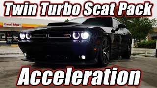 Twin Turbo Scat Pack Challenger Acceleration - 7.5lbs Boost