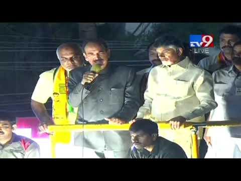 Ghulam Nabi Azad full speech Road Show in Hyderabad - TV9