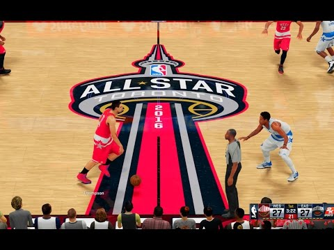 NBA 2K16: 2016 NBA All Star Game! East vs West! #allstarto [PS4]