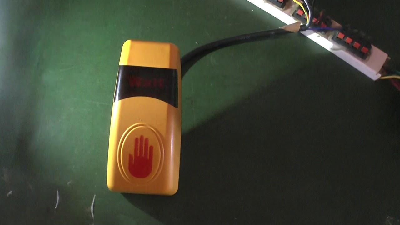 audio traffic push button