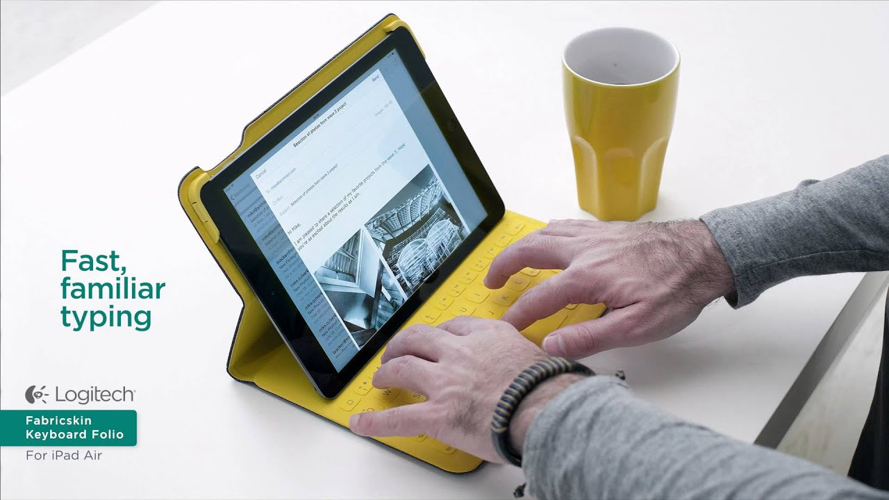 logitech fabricskin keyboard folio ipad air de urban. Black Bedroom Furniture Sets. Home Design Ideas