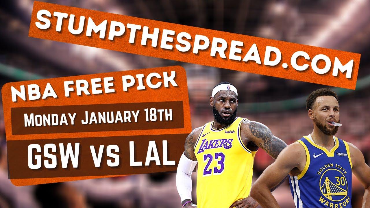 Golden State Warriors vs LA Lakers 1/18/21 Free NBA Picks NBA Picks Tonight - Warriors vs Lakers