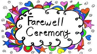 Farewell Ceremony Poster drawing, Farewell ceremony idea,