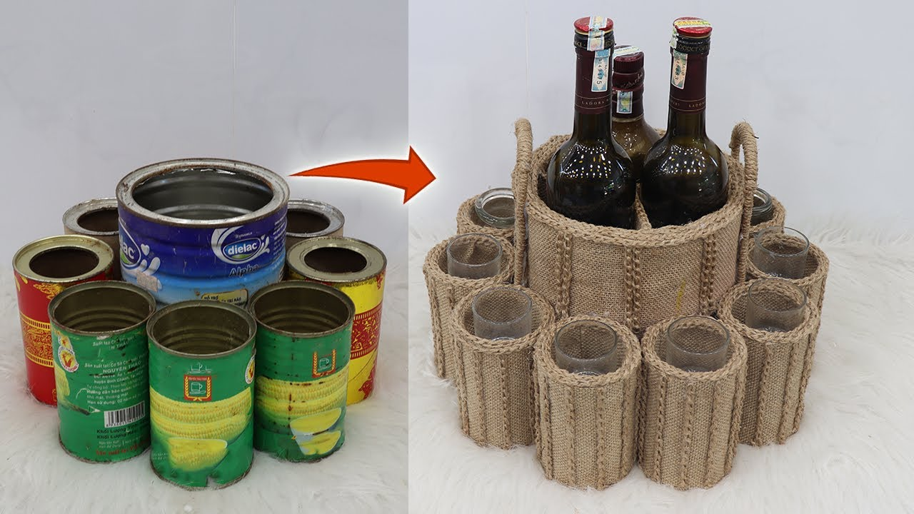 Unique Storage Organizer ideas from Waste Material   Jute Craft Ideas