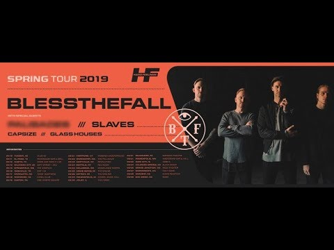 The Word Alive 10th Anniv tour - Blessthefall tour w/ Slaves, Capsize and Glass Houses