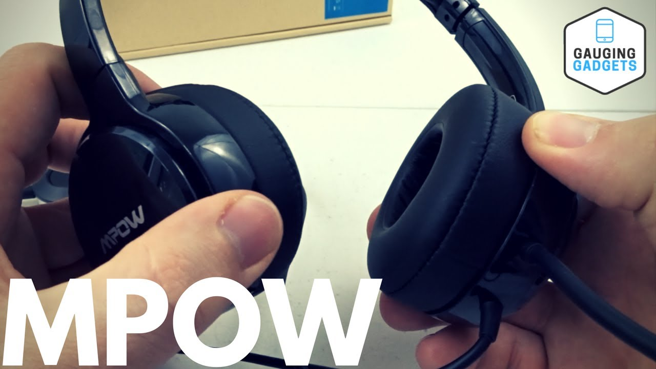 818e3c70b26 Mpow PC Headset Review - Over Ear Computer Headphones With Mic - YouTube