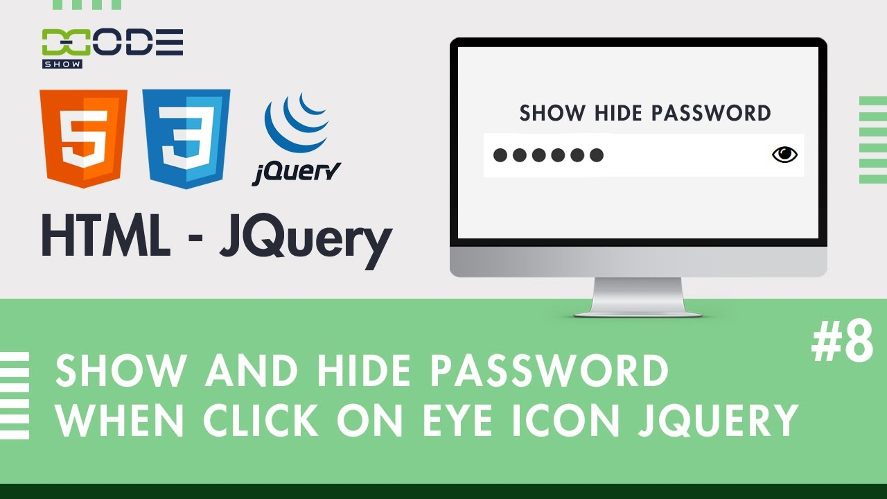 How to Show And Hide Password When Click On Eye Icon Using Jquery | Show Password