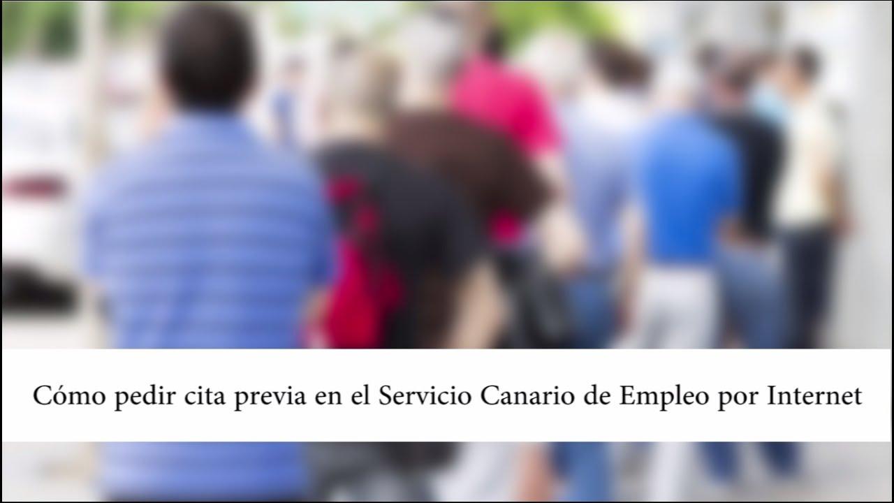 servicio canario de empleo citas