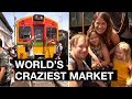 Maeklong Railway Market | Damnoen Saduak Floating Market  | World's Craziest
