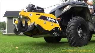 Rammy Flail mower 120 ATV, ATV Lawn mower. Hammer blades, fine result!