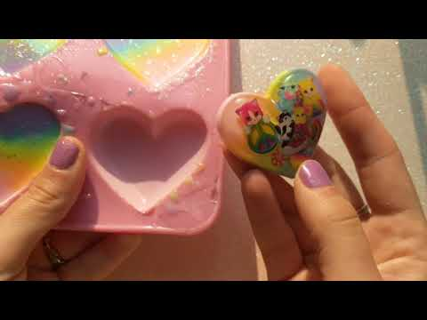 ASMR demolding kawaii resin heart compilation