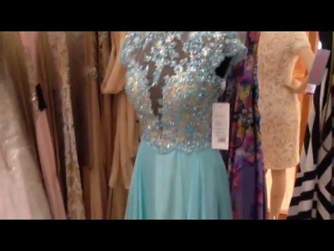 Небесно-голубое вечернее платье из шифона от jovani и Мадам Шико идеально на выпускной!