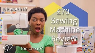 £70 SEWING MACHINE HONEST REVIEW | BROTHER LS14 METAL CHASIS SEWING MACHINE | KIM DAVE