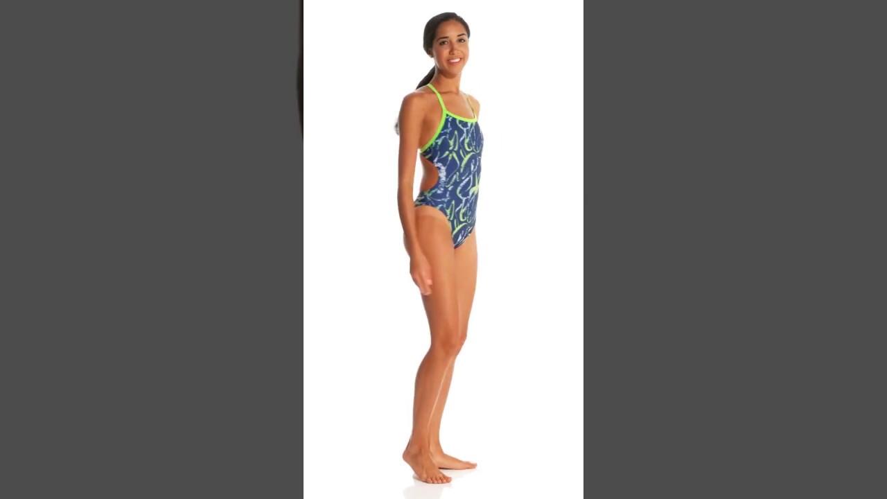 c8d1dc4274a Arena Women's Blaze Challenge Back One Piece Swimsuit | SwimOutlet.com