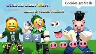 Alone By: Alan Walker [ROBLOX Music Video] ft. RDT & Draco!