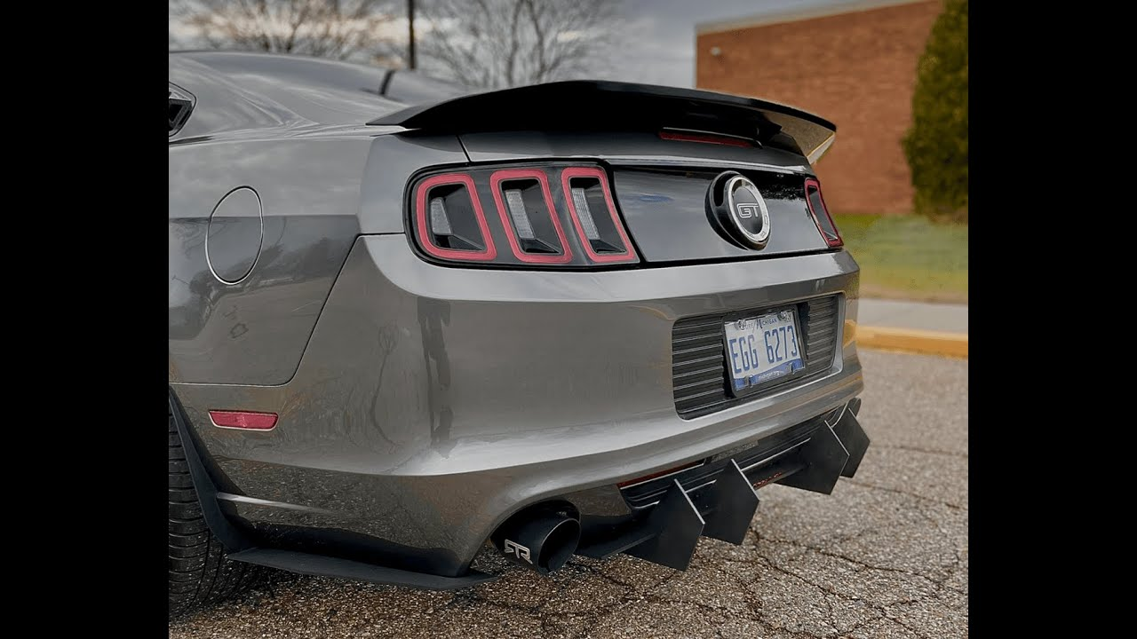 2013 2014 Mustang Street Aero Rear Diffuser Youtube