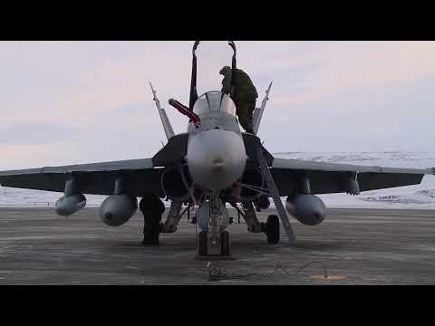 Canadian Fighter Jets • NORAD Exercise In Icy Greenland