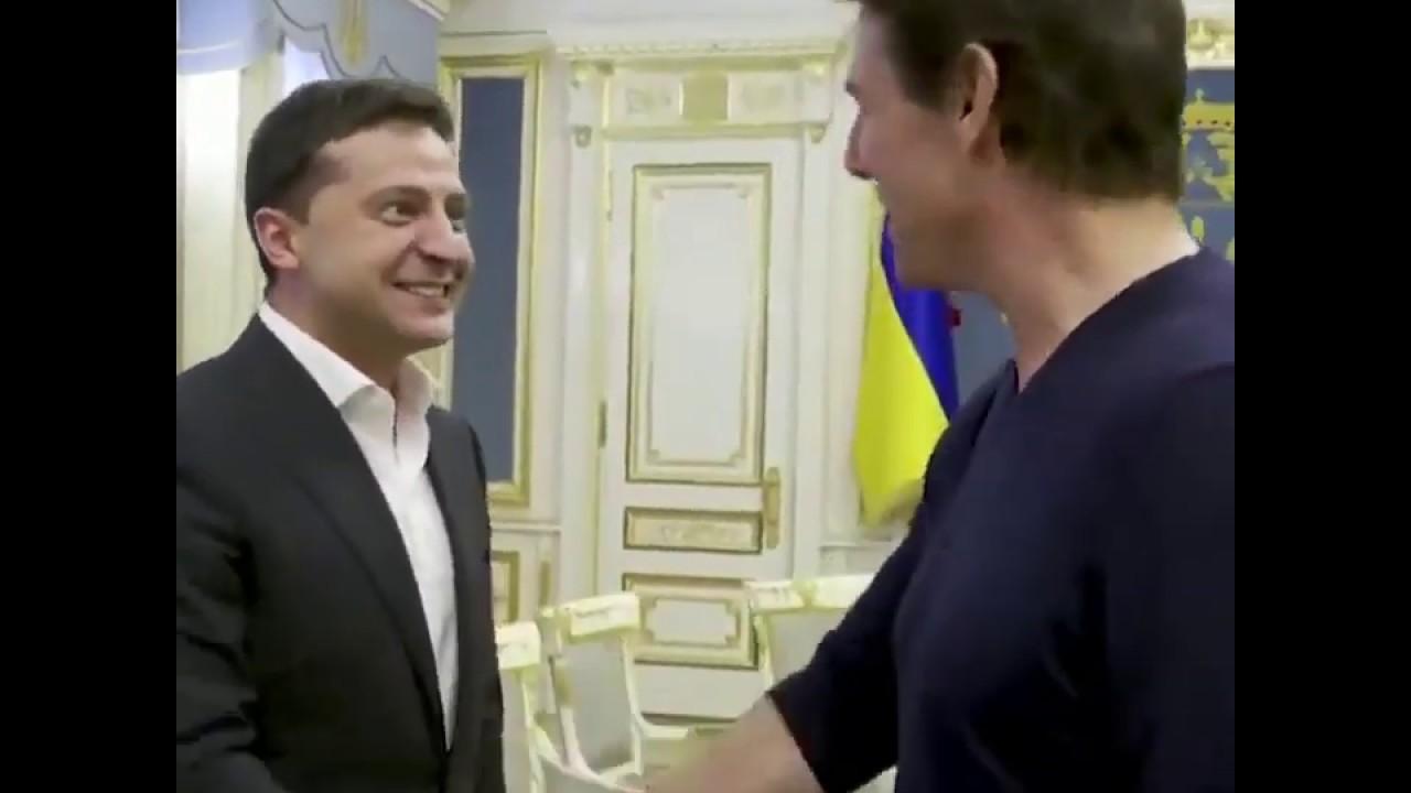 """Presiden """"Komedian"""" Ukraina Undang Tom Cruise: """"Kamu Tampan Seperti di Film"""""""
