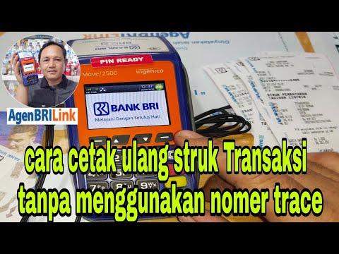 cetak ulang struk Transaksi keuangan di BRIlink