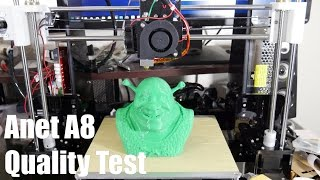 anet a8 3d printer first print quality test stock
