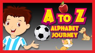 ABC Song for Children | Alphabet Journey Song | Kids Hut