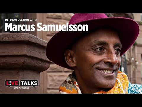 Marcus Samuelsson with Ted Habte-Gabr at Live Talks Los Angeles