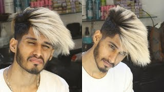 Snow White To Moonstone Icy silver | Hair color Transformation 2018 (Keratin Treatment) Ratan singh