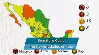 Semáforo Covid. Van 17 estados en amarillo