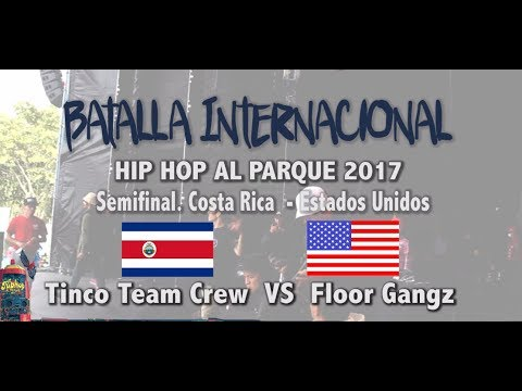 Hip Hop al Parque 2017 Batalla Internacional Break Dance, Costa Rica VS Estados Unidos