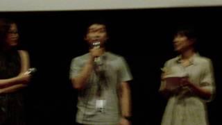 プチョン映画祭で前野朋哉監督の上映後の舞台挨拶が行われました。