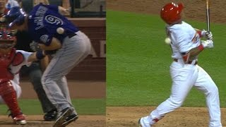 COL@STL: Tempers flare after Cards, Rox hit batters