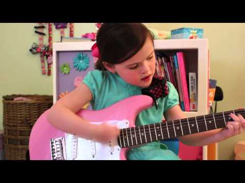 5 year old girl plays a song for Taylor Swift