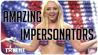 Repeat youtube video 5 hilarious, amazing impersonators from Britain's Got Talent and America's Got Talent